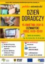 Plakat -  polsko niemiecki DZIEŃ DORADCZY, który odbędzie się w dniu 15.04.2021 roku od godziny 9 do 12